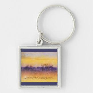 Serenity Prayer Purple Orange Field Key Chain