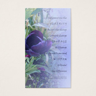 Serenity Prayer Purple Tulip Profile Card