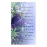 Serenity Prayer Purple Tulip Profile Card Business Card Templates