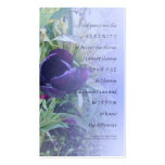 Serenity Prayer Purple Tulip Profile Card Double-Sided Standard Business Cards (Pack Of 100)