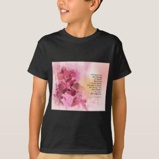 Serenity Prayer Quince Fence 3 Pink T-Shirt