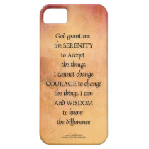 Serenity Prayer Quince Fence One iPhone SE/5/5s Case