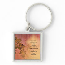 Serenity Prayer Quince Fence One Keychain