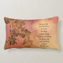 Serenity Prayer Quince Fence One Lumbar Pillow