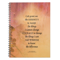 Serenity Prayer Quince Fence One Spiral Notebook