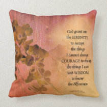 Serenity Prayer Quince Fence One Throw Pillow