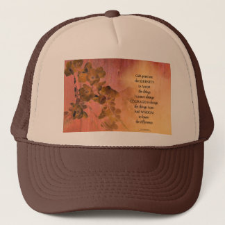 Serenity Prayer Quince Fence One Trucker Hat
