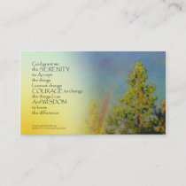 Serenity Prayer Rainbow Pines Business Card