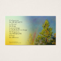 Serenity Prayer Rainbow Pines Business Card