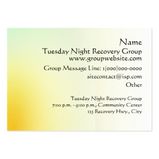 Serenity Prayer Rainbow Pines Business Card Templates