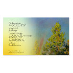 Serenity Prayer Rainbow Pines Business Cards