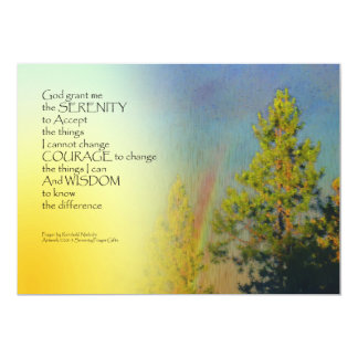 Serenity Prayer Rainbow Pines 5x7 Paper Invitation Card