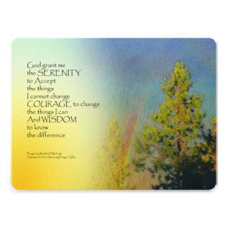 Serenity Prayer Rainbow Pines Personalized Invite