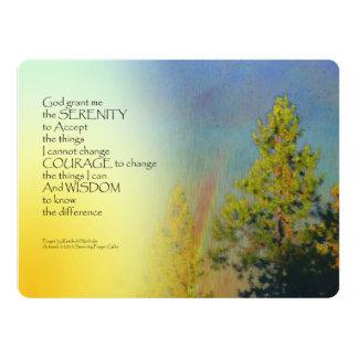 Serenity Prayer Rainbow Pines 6.5x8.75 Paper Invitation Card