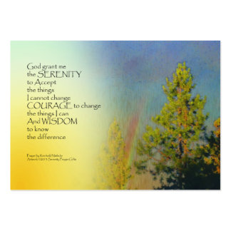 Serenity Prayer Rainbow Pines Large Business Card