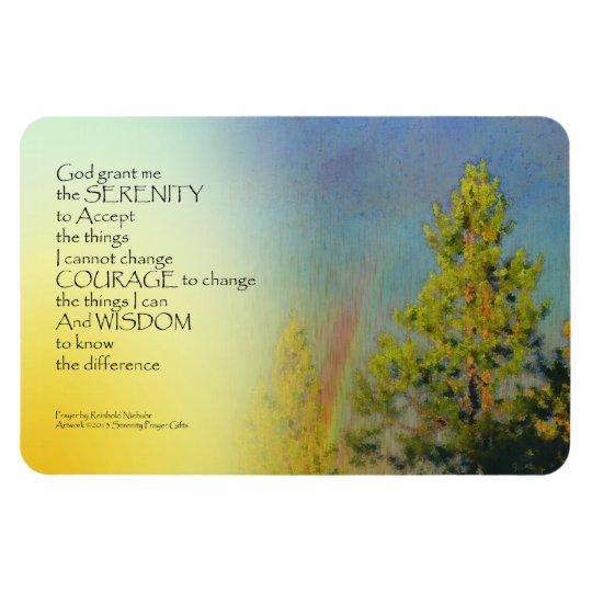 Serenity Prayer Rainbow Pines Magnet