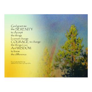 Serenity Prayer Rainbow Pines Post Card