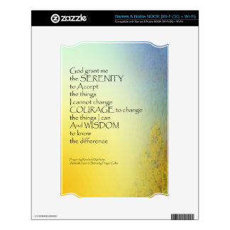 Serenity Prayer Rainbow Pines Skins For The NOOK