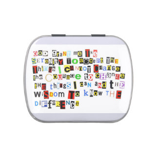 Serenity Prayer Ransom Note Jelly Belly Tins