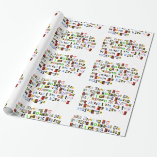 Serenity Prayer Ransom Note Wrapping Paper