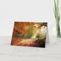 Serenity Prayer Recovery Slogan Forest Path Fall Card