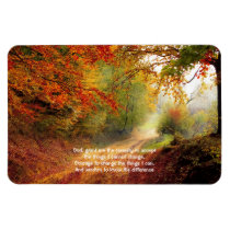 Serenity Prayer Recovery Slogan Forest Path Fall Magnet