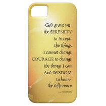 Serenity Prayer Red-Orange Tulips on Yellow iPhone SE/5/5s Case