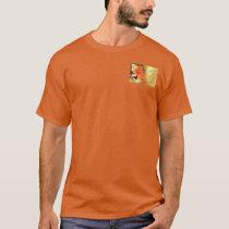 Serenity Prayer Red-Orange Tulips on Yellow T-Shirt