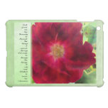 Serenity Prayer Red Rose on Green iPad Mini Cover