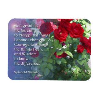 Serenity Prayer Red Roses Rectangular Photo Magnet