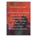 Serenity Prayer Red Sky Card