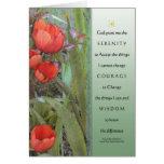 Serenity Prayer Red Tulips Card