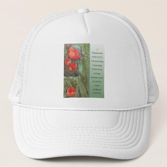 Serenity Prayer Red Tulips Trucker Hat