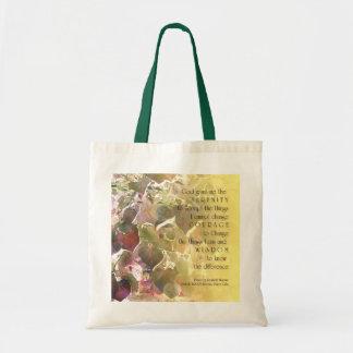 Serenity Prayer Redbud 2 Bag