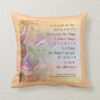 Serenity Prayer Redbud Leaves American MoJo Pillow