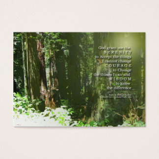 Serenity Prayer Redwoods Business Card