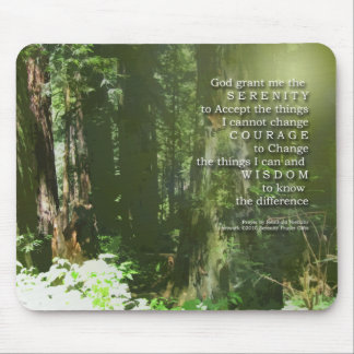Serenity Prayer Redwoods Mouse Pad