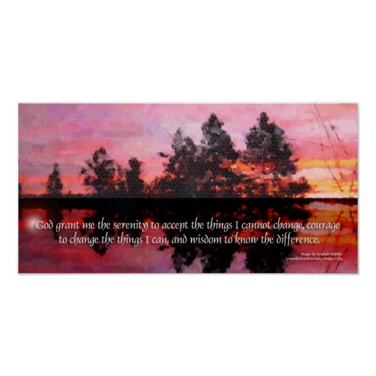 Serenity Prayer Reflections Poster