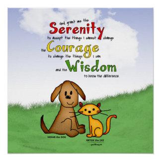 Serenity Prayer: Rehab & Detox, Strength/Recovery Poster