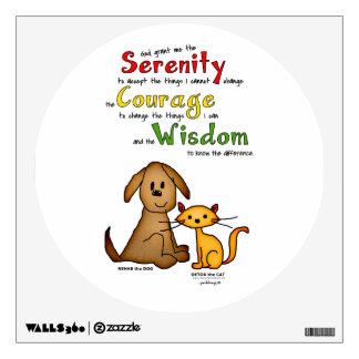 Serenity Prayer: Rehab & Detox, Strength/Recovery Wall Sticker