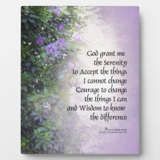 Serenity Prayer Rhododendron and Creek Plaque