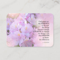 Serenity Prayer Rhododendron Glow Business Card