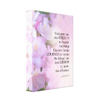 Serenity Prayer Rhododendron Glow Canvas Print