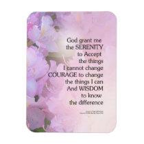 Serenity Prayer Rhododendron Glow Magnet