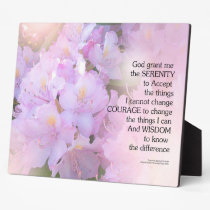 Serenity Prayer Rhododendron Glow Plaque
