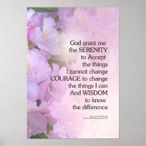 Serenity Prayer Rhododendron Glow Poster
