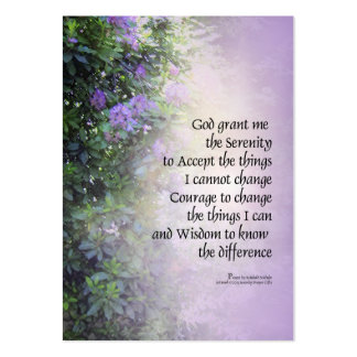 Serenity Prayer Rhododendrons and Creek Business Cards