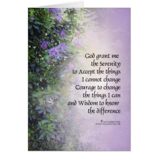 Serenity Prayer Rhododendrons and Creek Greeting Cards