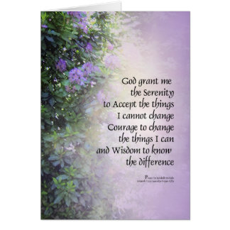 Serenity Prayer Rhododendrons and Creek Card