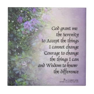 Serenity Prayer Rhododendrons and Creek Ceramic Tile